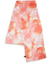 Echo - Abstract Floral Silk Scarf - Lyst