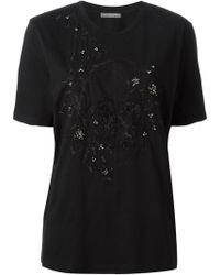 Alexander McQueen Embroidered Skull T-shirt - Lyst