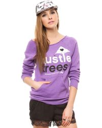 LRG - The Hustle Trees Raw Crewneck Sweatshirt - Lyst