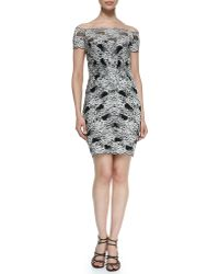 Nicole Miller Off-the-shoulder Lace Cocktail Dress - Lyst