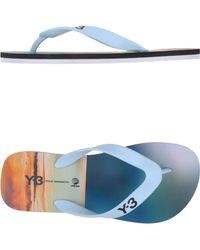 Y-3 Blue Thong Sandal - Lyst