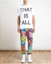 Versus  Splash Print Sweatpants - Lyst
