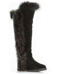 Koolaburra Sasha Ii Boots With Fur Trim - Chestnut black - Lyst