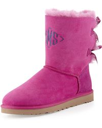 Ugg Bailey Bow-Back Short Boot pink - Lyst