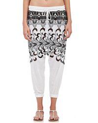 Surf Bazaar - Eyelet-embroidered Harem Pants - Lyst