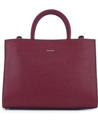 Carven - Leather Medium Tote Bag - Lyst