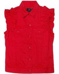Simone Rocha X J Brand Oversize Vest With Ruffle - Lyst