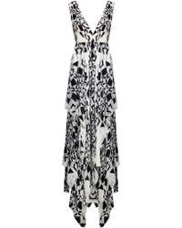 Alice + Olivia Esmay Deep V Dress - Lyst