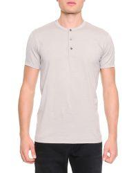 Dolce & Gabbana Short-Sleeve Henley T-Shirt - Lyst