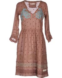 Odd Molly Short Dress brown - Lyst