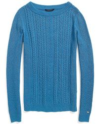 Tommy Hilfiger Textured Cable Knit Sweater - Lyst