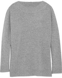 J.Crew Gray Cashmere Sweater - Lyst