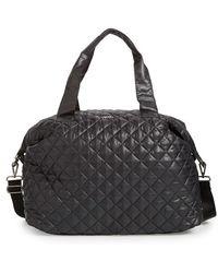 Steve Madden 'bkwest' Quilted Nylon Duffel Bag - Black