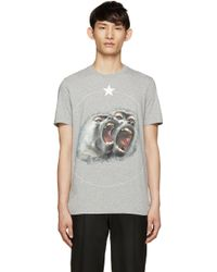 Givenchy - Grey Monkey Brothers T-shirt - Lyst