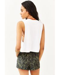 Mate - Palm Trees Cropped Muscle Tee - Lyst