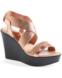 Charles by Charles David 'Feature' Wedge Sandal - Lyst