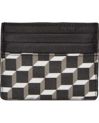 Pierre Hardy Grey And Black Leather Cube Print Card Holder - Lyst