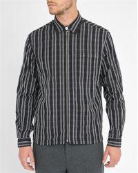 Our Legacy | Black Raster Check Zipped Shirt | Lyst
