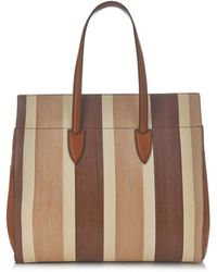 Max Mara Smor Snakeskin And Leather Tote - Lyst