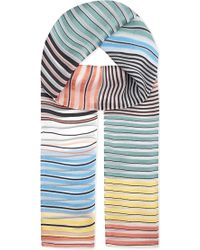Paul Smith Black Label - Mainline Stripe Silk Scarf - Lyst