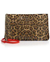 Christian Louboutin   Posh Leopard Print Leather Crossbody Bag   Lyst