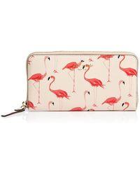 Kate Spade Wallet - Cedar Street Flamingos Lacey Continental multicolor - Lyst