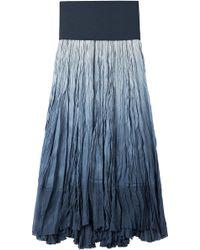 Donna Karan New York Crinkled Silk Maxi Skirt - Lyst