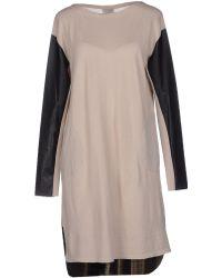 Nude   Short Dress   Lyst