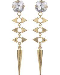 Jill Golden Crystal Reflection Spike Earring - Lyst