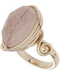 TOPSHOP - Rose Wrap Stone Ring - Lyst