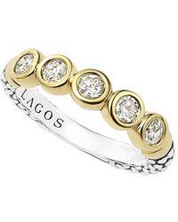 Lagos | Diamond Stacking Ring | Lyst