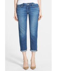 Paige 'Jimmy Jimmy' Boyfriend Crop Jeans - Lyst