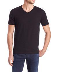 BOSS | Eraldo Cotton V-neck Shirt | Lyst