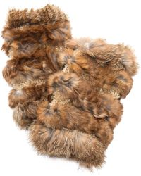 Jocelyn Mandy Fur Mittens - Blackcement - Lyst