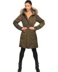 Add Waterproof Fur Trimmed Down Parka - Lyst