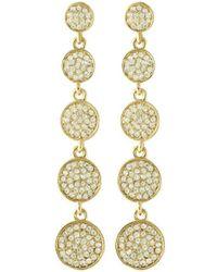 Karen Kane Starry Disc 5 Drop Earrings gold - Lyst