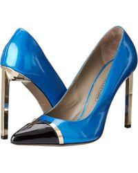 Versace Capped Toe Colorblock Stiletto - Lyst
