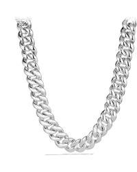 David Yurman Curb Link Necklace - Lyst