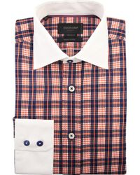 Duchamp Checked Tailored-fit Single-cuff Shirt - Lyst