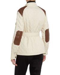 Lauren by Ralph Lauren - Quilted Faux Leather Monza Coat - Lyst