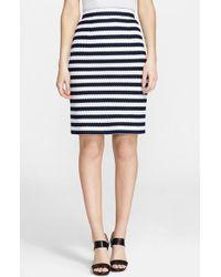 Diane von Furstenberg 'Walda' Stripe Knit Cotton Skirt - Lyst