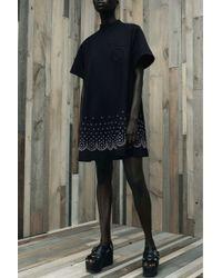 Alexander Wang   Eyelet Emebellished Black Cotton Dress   Lyst