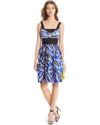 Diane von Furstenberg Dvf Sita Silk Wool Pleated Dress - Lyst