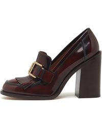 Mulberry Darby High Heel Loafer - Purple