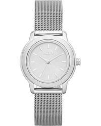 DKNY Womens Tompkins Stainless Steel Mesh Bracelet Watch 28mm - Lyst