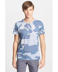 Etro Camo Print T-Shirt - Lyst