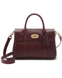 Mulberry Small Bayswater Satchel purple - Lyst