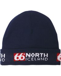 66 North Workman - Classic Fishermen's Knit Cap - Blue
