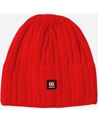 66 North Surtsey - Windproof Knit Cap - Red
