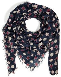 Zadig & Voltaire Skull Dots Scarf - Lyst